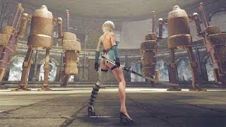 NieR Automata First DLC Gameplay Demo (PS4 PC)