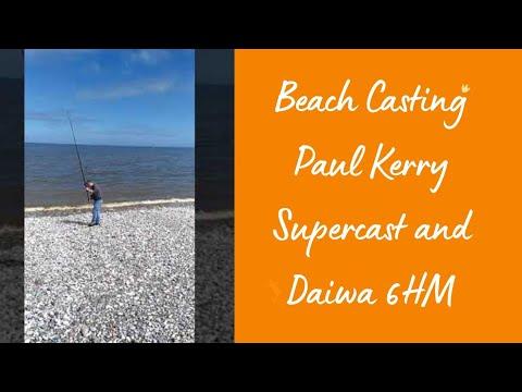 Beach Fishing Daiwa Paul Kerry Supercast And 6HM CT Old Skool Fishing North Wales