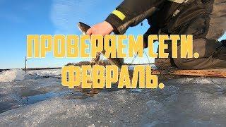 Проверяем сети в феврале 2 | Winter fishing with nets