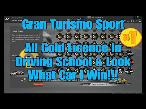 2) Gran Turismo Sport All Gold Licence In Driving School & Look What Car I Win!!! (Music Only).