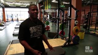 LaMichael James - Oregon Ducks Football Facilities / Autzen Stadium Tour Weight Room