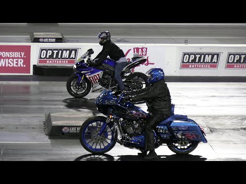 Crazy Harley Vs Sportbikes - Drag Racing