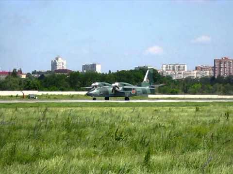 Antonov An-32B Bangladesh - Air Force Zhulyany - Kiev   2012_06_08.mpg