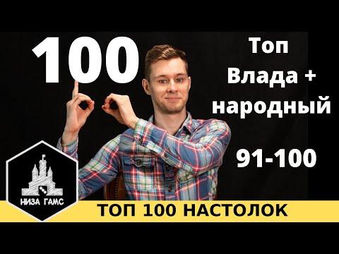 ТОП 100 ЛУЧШИХ НАСТОЛЬНЫХ ИГР. Часть 1: 91-100. Топ от Влада и народный рейтинг.
