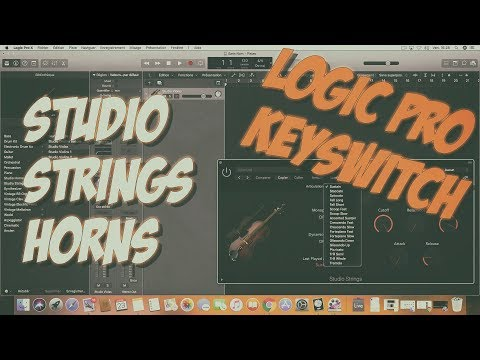 Logic Pro X: Studio Strings Horns contrôle articulations [interrupteurs à touche - Keyswitch]