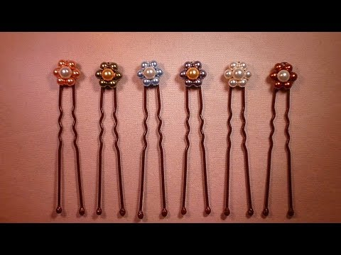 Horquillas de Flamenco Swarovski Beaded Flamenco Hairpins Tutorial