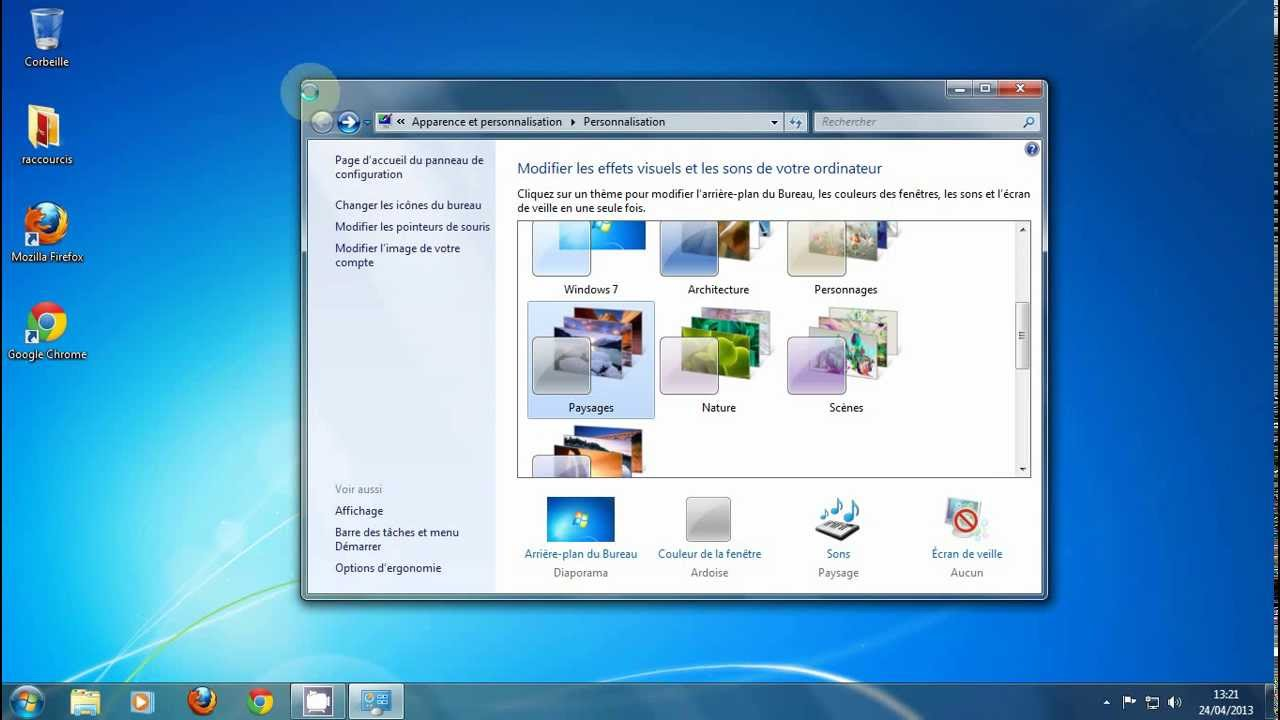 Cours informatique d butant partie 1 le bureau windows for Windows 7 bureau vide