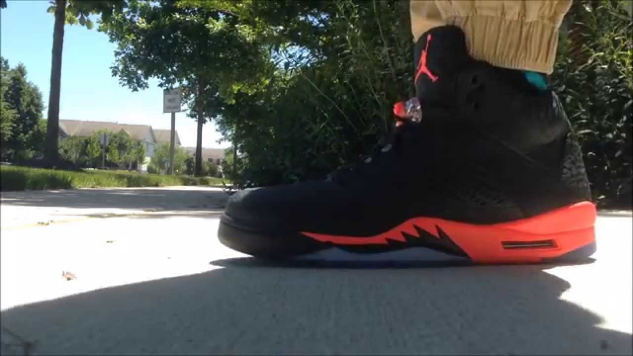 d2474f0653ff64 ... coupon code 2013 jordan 5 retro 3lab5 infrared on foot youtube 76530  c682d