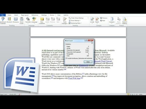 Count Words In A Word Document, Count Characters, Lines And Paragraphs In Word