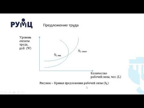 Лекция 1.2 Спрос и предложение на рынке труда, современное состояние российского рынка ...