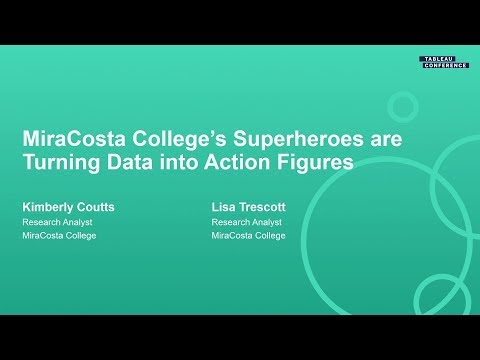 MiraCosta College; Superheroes are Turning Data into Action Figures
