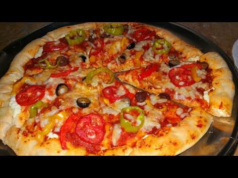 صورة  طريقة عمل البيتزا بيتزا اقتصاديه سريعه مش مكلفه من غير اي البان او بيض ولا لحوم|مطبخ نودي| طريقة عمل البيتزا بالفراخ من يوتيوب