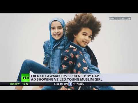 Okay for USA, 'sickening' for France? French society opposes girl in headscarf in Gap ad campaign