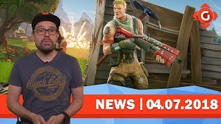 FORTNITE: Season 5! | GTA ONLINE: Gratis Cash!| GW-NEWS 04.07.2018