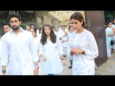 Abhishek Bachchan, Aishwarya And Big B Spotted At A Funeral