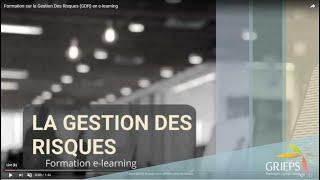 Formation sur la Gestion Des Risques (GDR) en e-learning