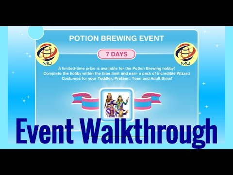 The Sims FreePlay - Potion Brewing Hobby/Event Walkthrough
