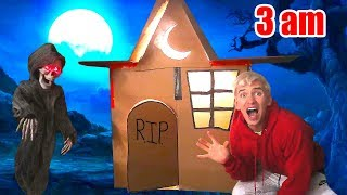 HAUNTED BOX FORT!! (3AM CHALLENGE) 👻 📦