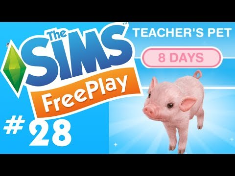The Sims FreePlay - Downtown High School & Teacher's Pet Quest - Let's Play Part 28