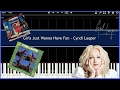 Girls Just Want Have Fun - Cyndi Lauper (Synthesia) [Tutorial] [Instrumental Video] [Download]