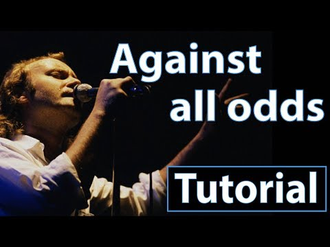 "Como tocar ""Against all odds""(Phil Collins) - Piano, tutorial, partitura y Mp3"