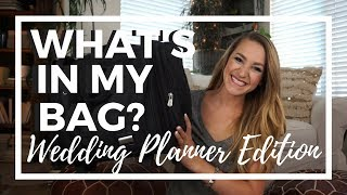 What's in my Bag? Wedding Planner Edition