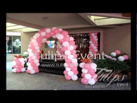 How to plan your first baby 39 s birthday decoration design for Baby girl birthday decoration pictures