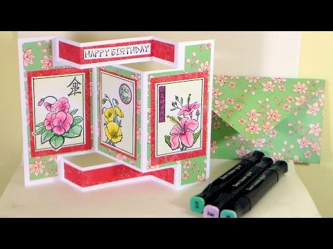Tri Shutter Card Tutorial // Stamp School