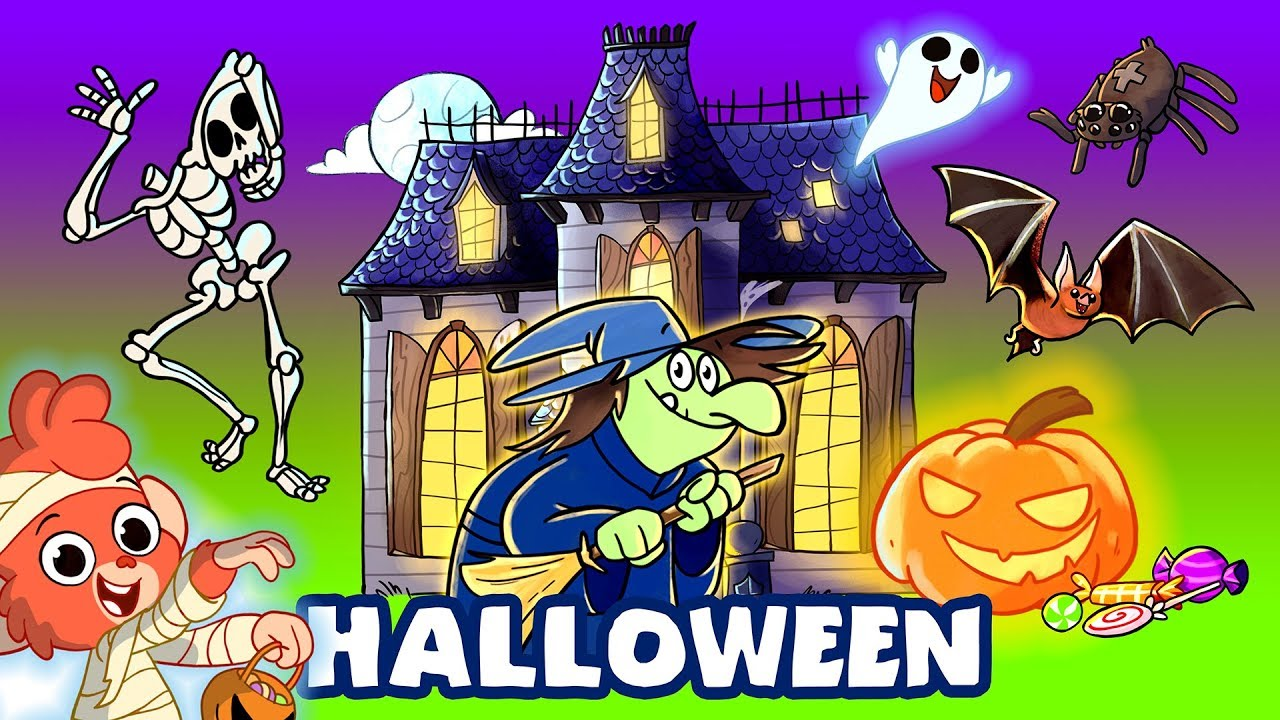 Halloween cartoons for kids | Scary Halloween video for ...