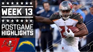 Buccaneers vs. Chargers | NFL Week 13 Game Highlights