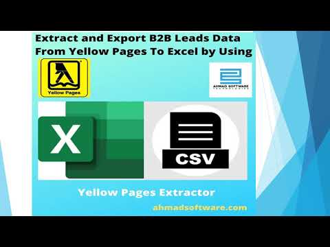 How Can I Export Data From Yellow Pages To Excel?
