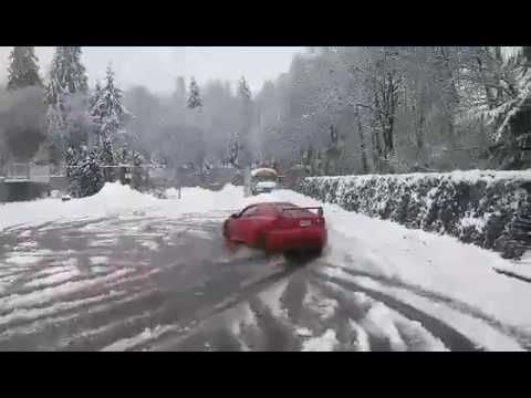 Front wheel drive FWD Snow drifting & tray sliding