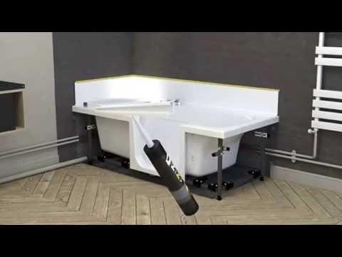 duo van kinedo montagevideo douche bad combinatie youtube. Black Bedroom Furniture Sets. Home Design Ideas