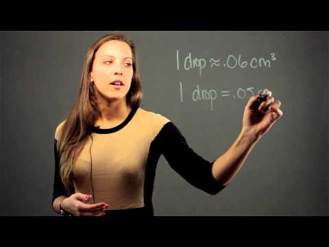 How to Convert Drops to Cubic Centimeters : Math Conversions & Calculations