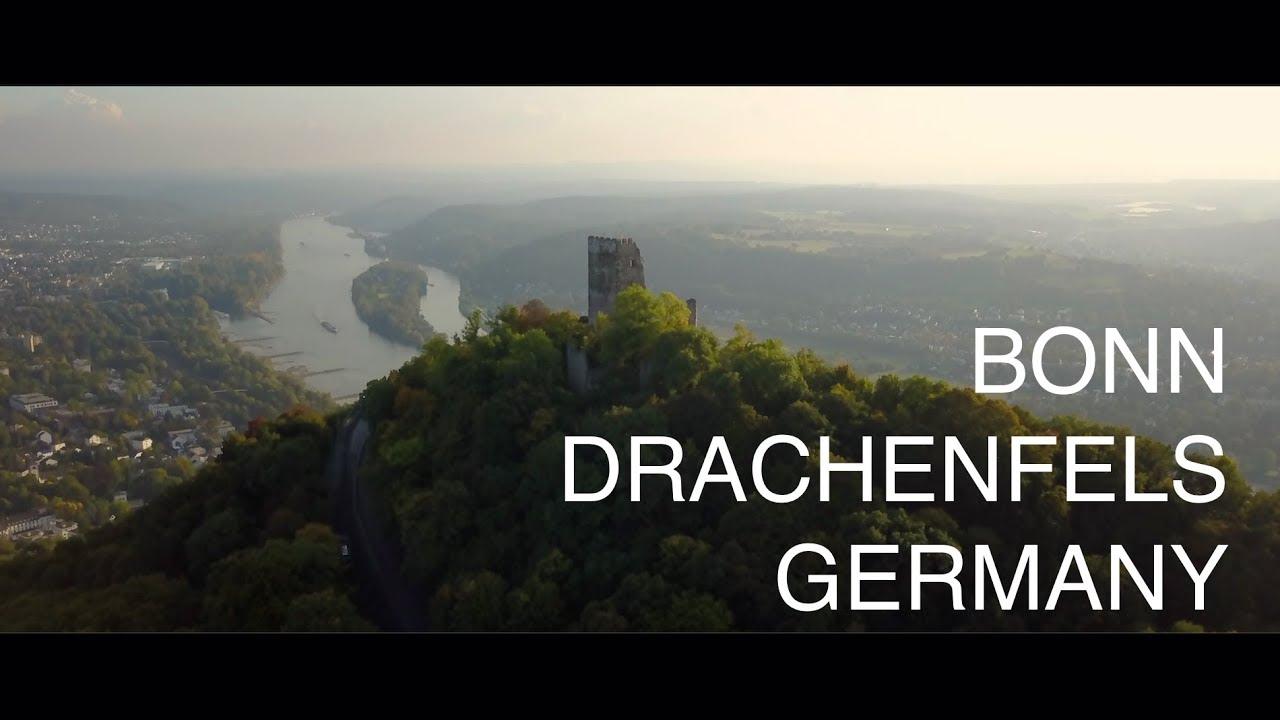 BONN, RHINE, DRACHENFELS (4K) - DJI Mavic Pro