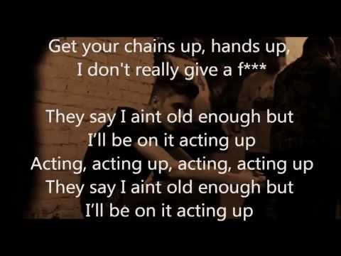 Justin Bieber - Actin' Up LYRICS ON SCREEN