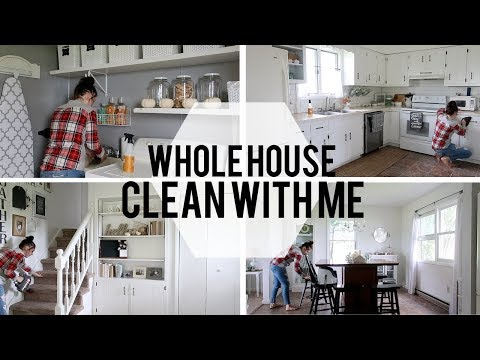 Whole House Clean With Me | Speed Clean | Farmhouse Clean With Me