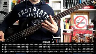 SCORPIONS - Hey you (bass cover w /Tabs)