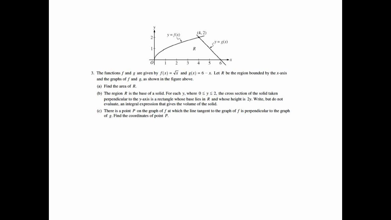 AP Calculus AB 2011 form B frq 3 - YouTube