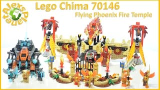Lego Chima 70146 Flying Phoenix Fire Temple Build Review