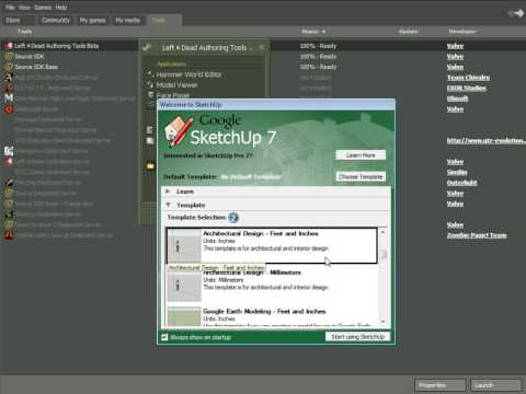 L4D Mapping: Installing Authoring Tools & SketchUp