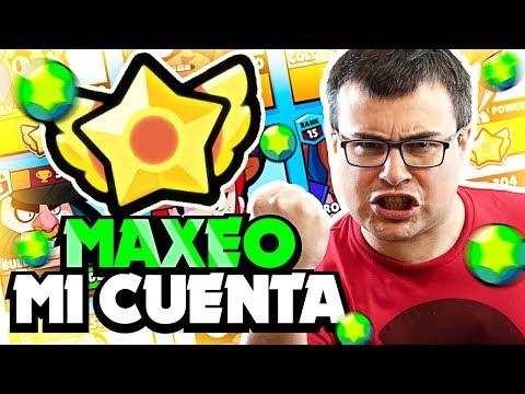 MAXEO MI CUENTA DE BRAWL STARS ¡¡GASTAMOS 6000 GEMAS!!
