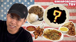 """Singaporeans Try: """"Singapore Noodles"""" And Other Asian American Food"""