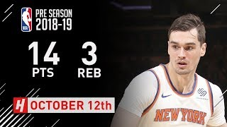 Mario Hezonja Full Highlights Nets vs Knicks - 2018.10.12 - 14 Pts, 3 Rebounds!