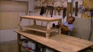 How to make a coffee table step by step. I start from a tree I cut down a year ago and mill it up in my backyard sawmill. Furniture