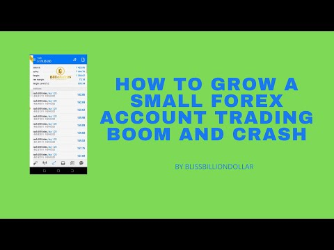 SECRETS TO GROWING A SMALL FOREX ACCOUNT TRADING BOOM AND CRASH PART 1