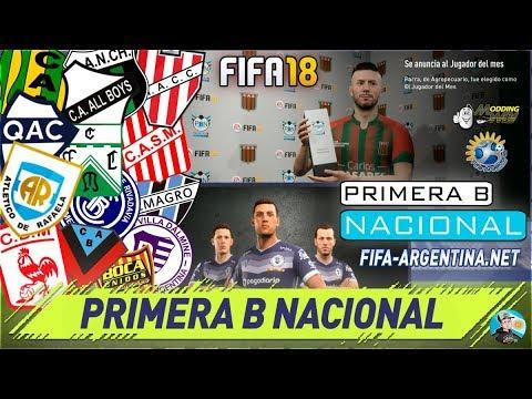 FIFA 18 Kits Nacional B - SUPERLIGA ARGENTINA - COPA ARGENTINA - F-A MOD