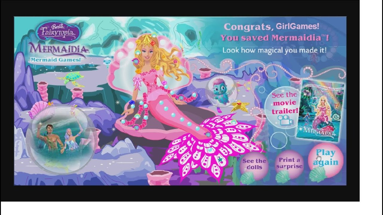 games kids mermaid for
