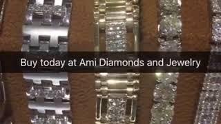 Diamond Bracelets in White and Yellow Gold at AMI Diamonds and Jewelry in Phoenix, Arizona