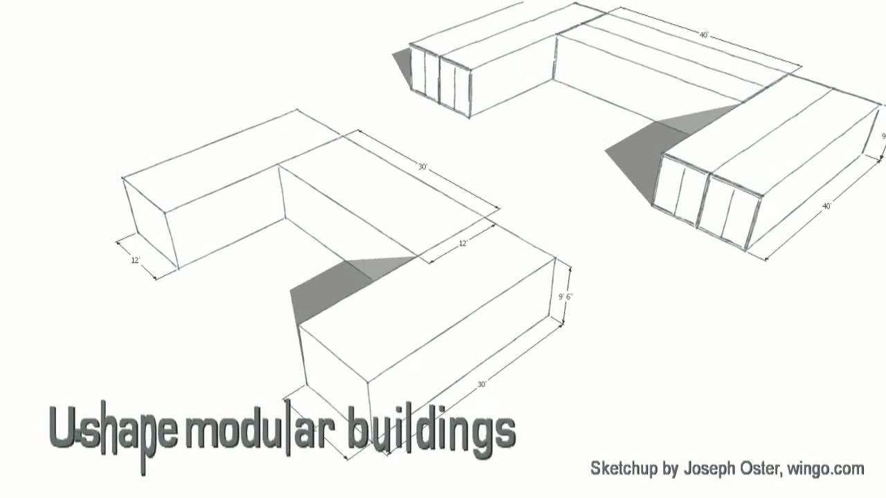 U-shape modular housing - YouTube